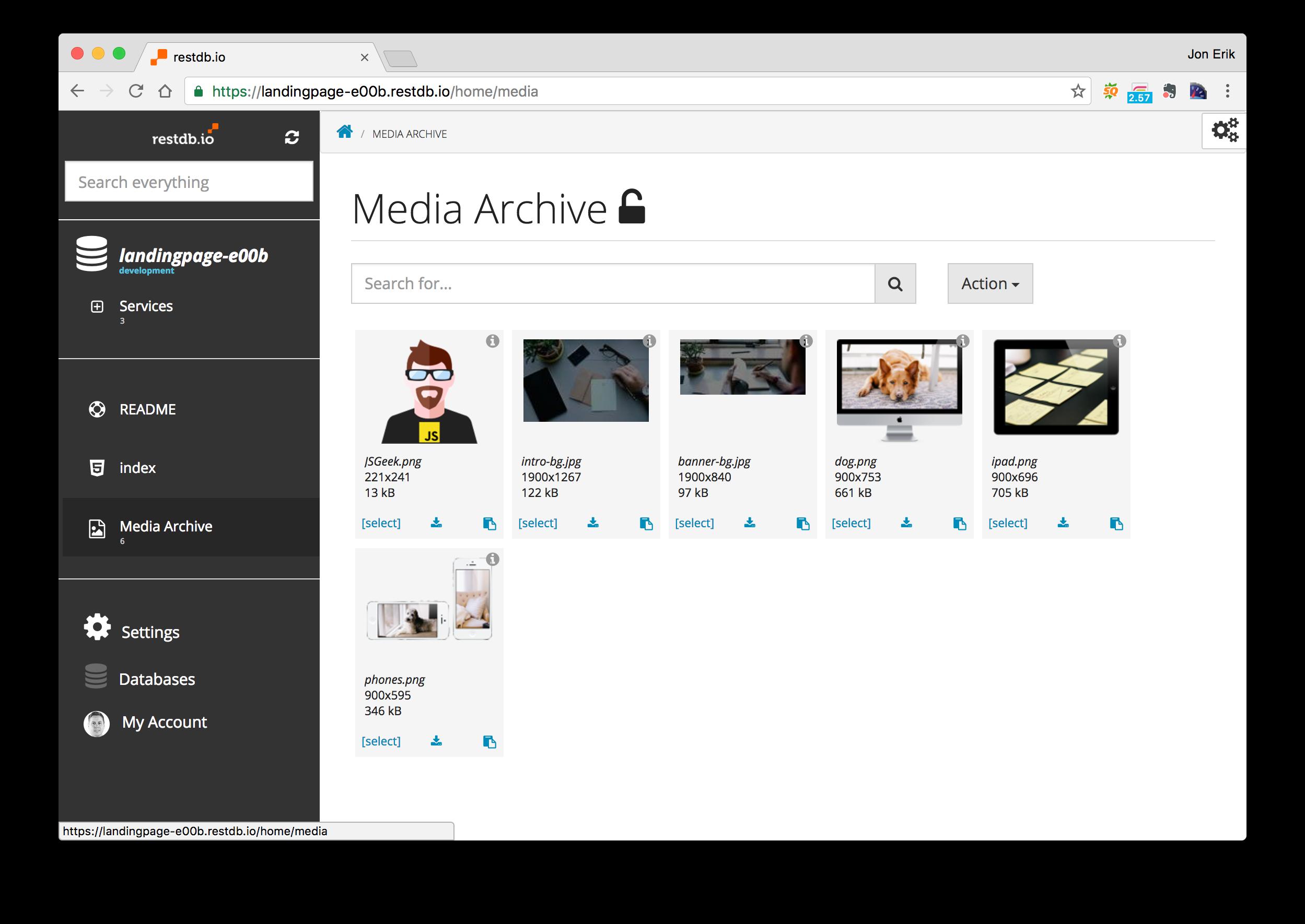 Media archive