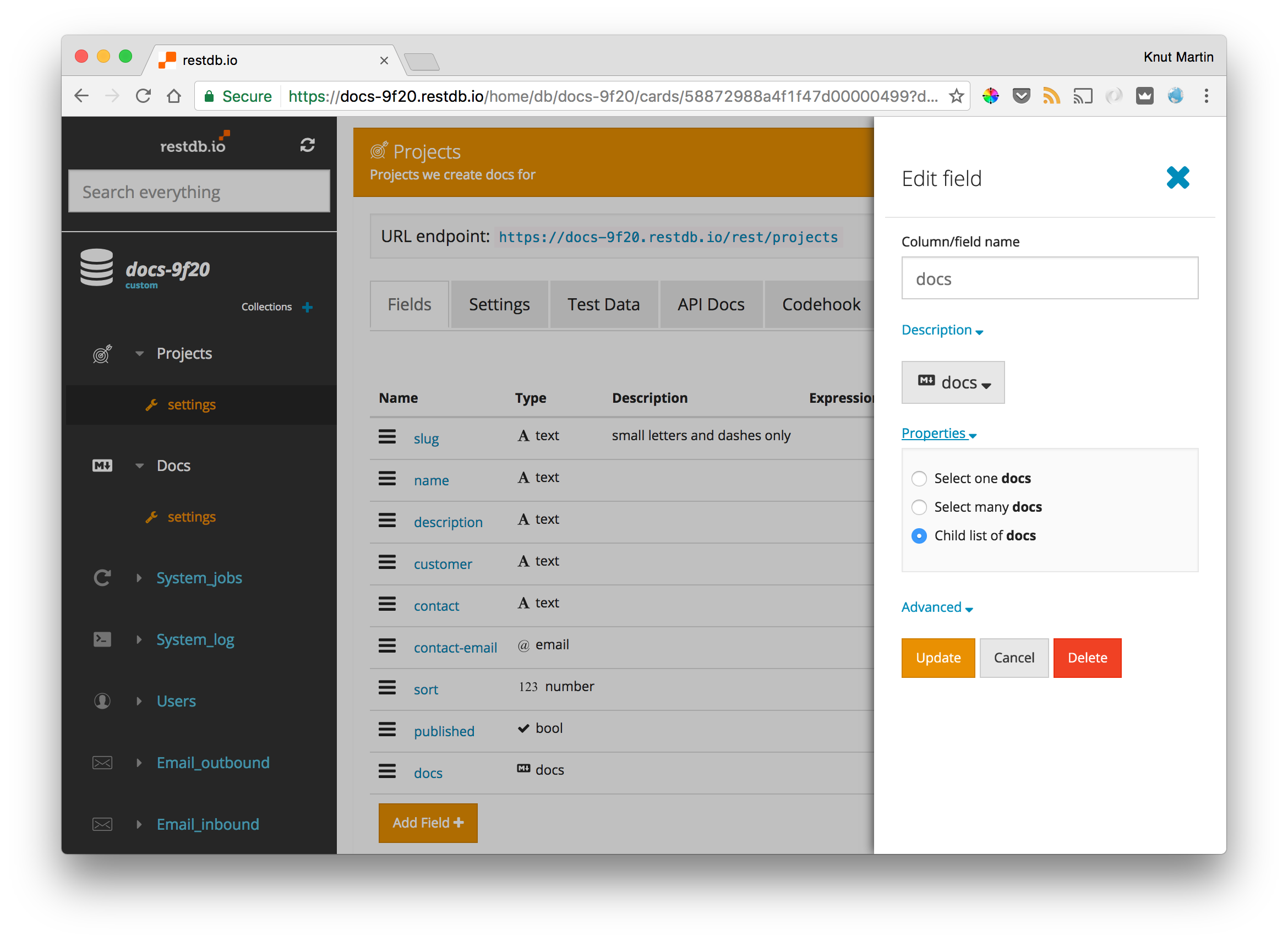 host your project docs in a dynamic web database blogpost